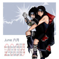 Naruto-Shounen Ai Cal-June by Kagaya