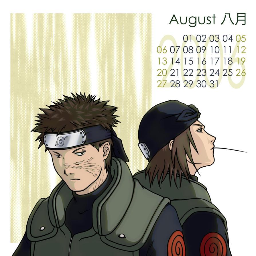 Anime Characters Born In August : Naruto shounen ai cal aug by kagaya on deviantart