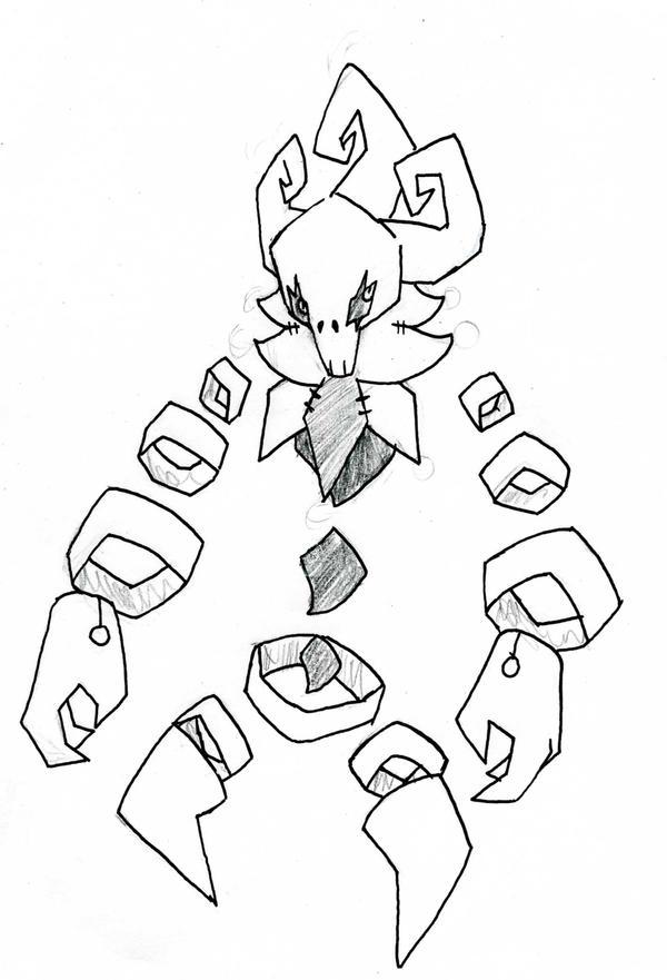 Sketch::Fakemon::Jeskull by KuroBlanc