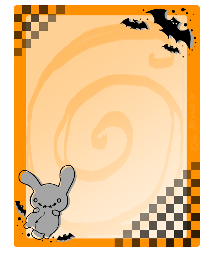Halloween Stationery By Kuroblanc