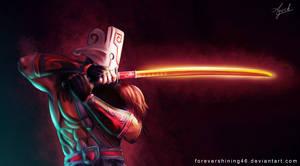 Juggernaut Dota 2 fanart by Azaggon