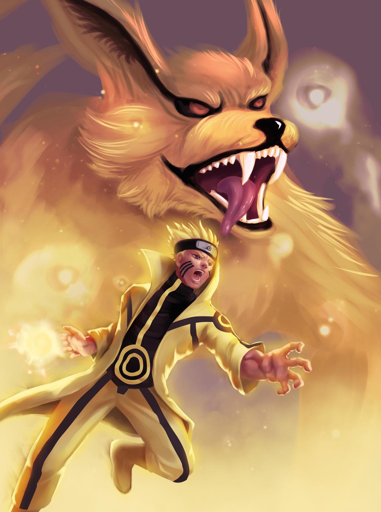 Naruto 9 tails form by Azaggon on DeviantArt  Naruto 9 tails ...