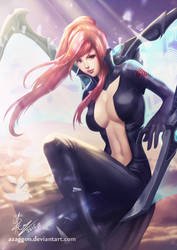 Erza Scarlet - Black Wing armor by Azaggon