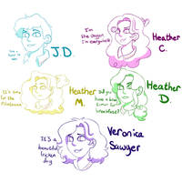 Main Heathers Cast by CloverJ123
