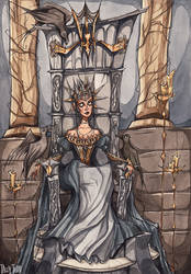 Upon Her Throne
