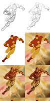 Iron Man Master Study - Process Steps by RRoehrig35