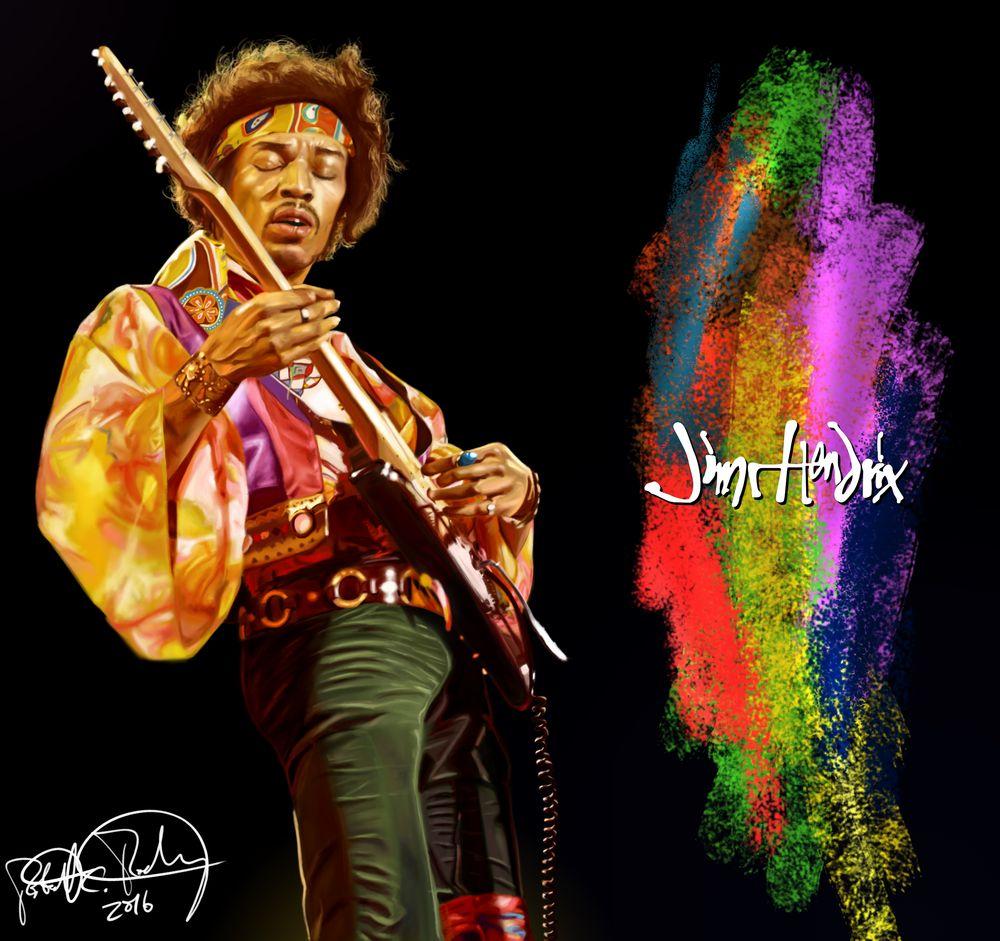Jimi Hendrix Study by RRoehrig35