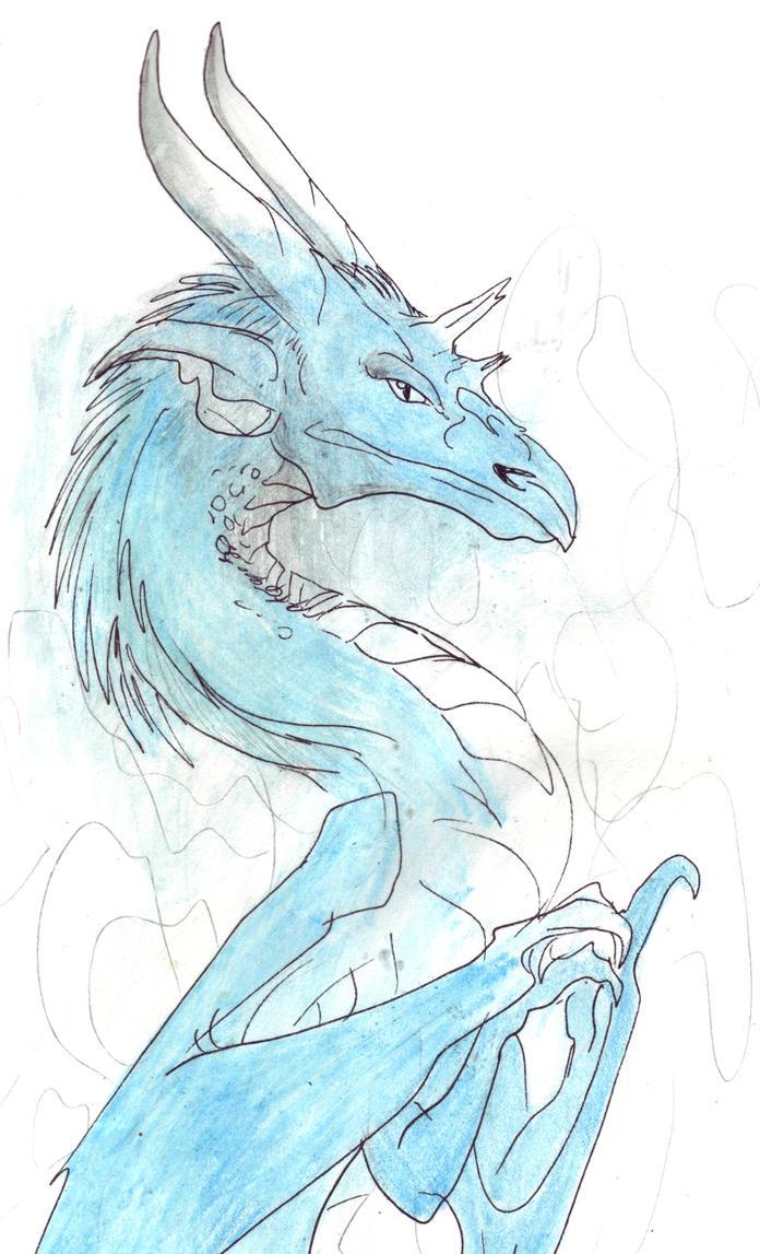 Graceful Blue Dragon by LinmirianJoyrex