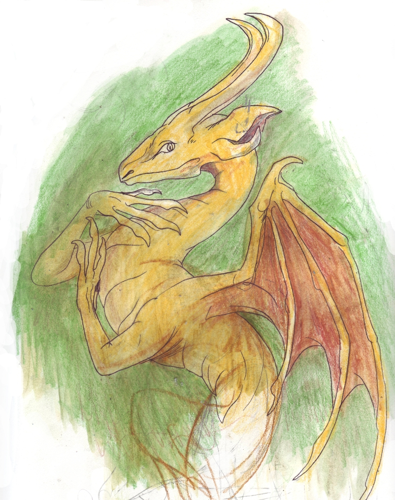Fabulous Yellow Dragon by LinmirianJoyrex