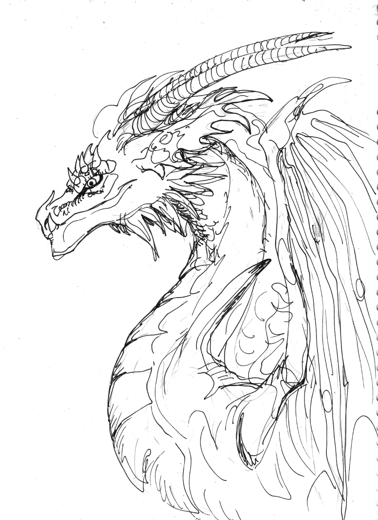 Blazed Ink Drawing by LinmirianJoyrex