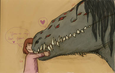 My Big Lizard Friend by LinmirianJoyrex