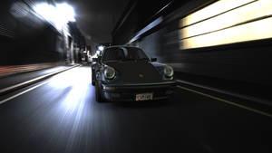 Porsche 930 in action