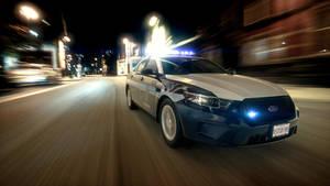 Fairfax County Police Cruiser on the move