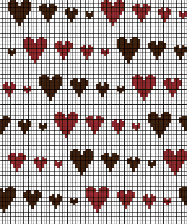 Knitting Chart Patterns : Knitting Chart: Runaway Hearts by redhedinsanity on DeviantArt