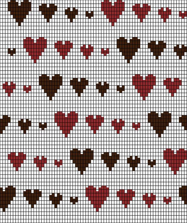 Knitting Chart Runaway Hearts By Redhedinsanity On Deviantart