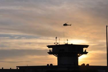 Air Patrol at sunset