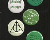 Harry Potter 5 Button Set by jessjess385201