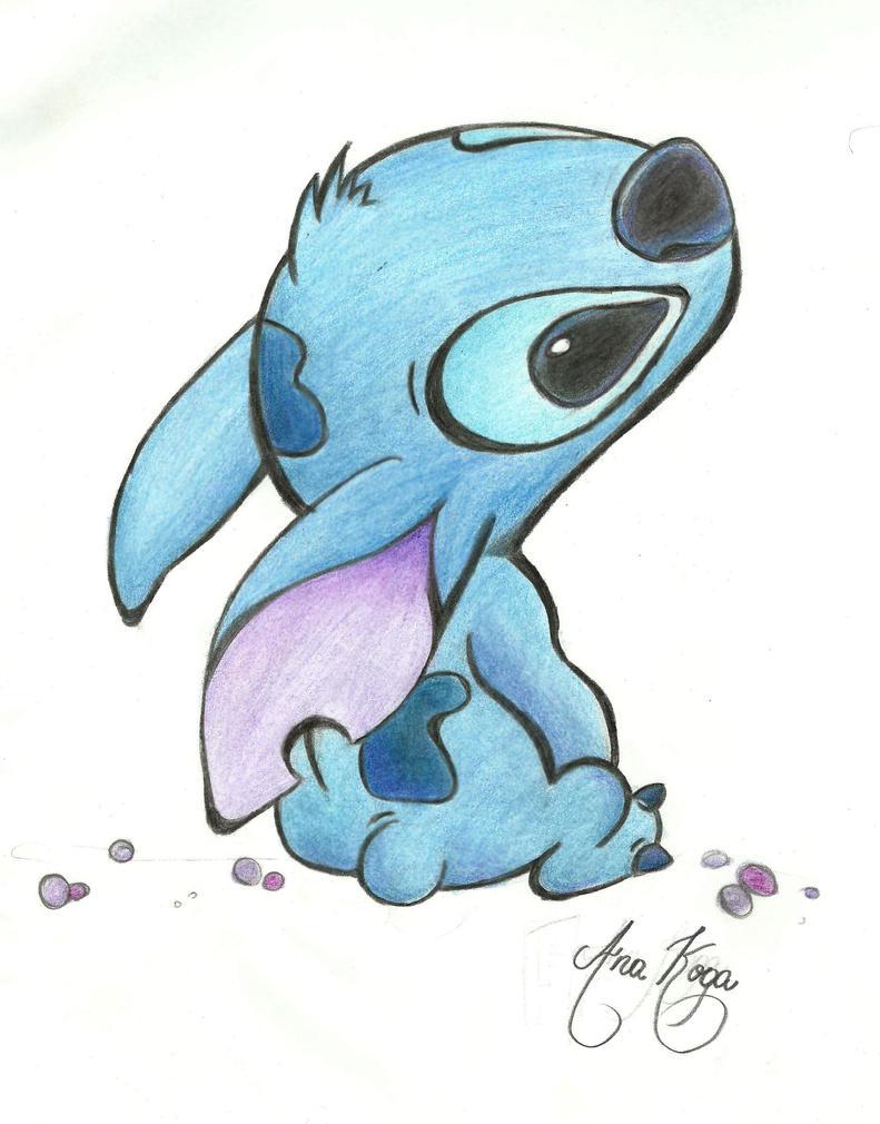 Alien Stitch Drawing Stitch Drawing by Anakoga