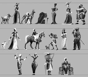 Smuggler: Women thumbnails by LhuneArt