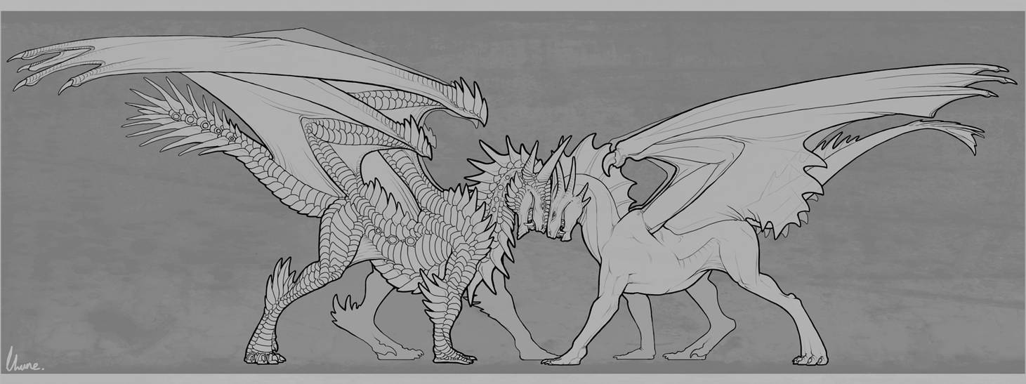Confrontation by LhuneArt