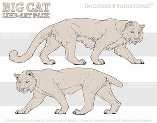 P2U: Big Cat Line-art Pack