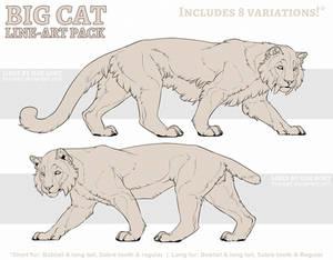 P2U: Big Cat Line-art Pack