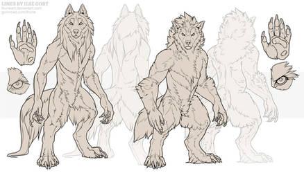 P2U: Werewolf Lineart Set