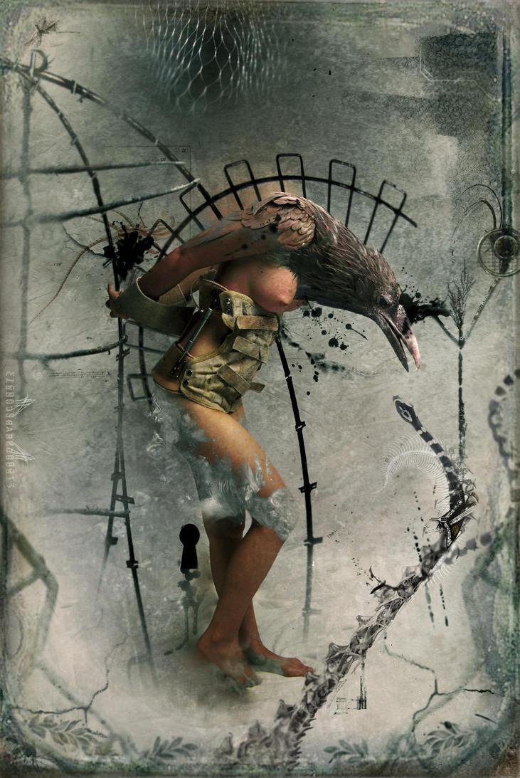 Corvus -La Cage- by zero-scarecrow13