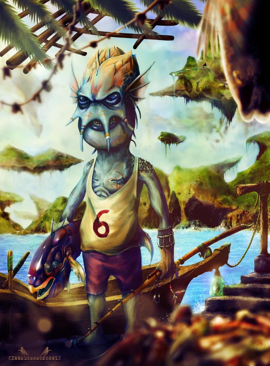 Fisherman by zero-scarecrow13