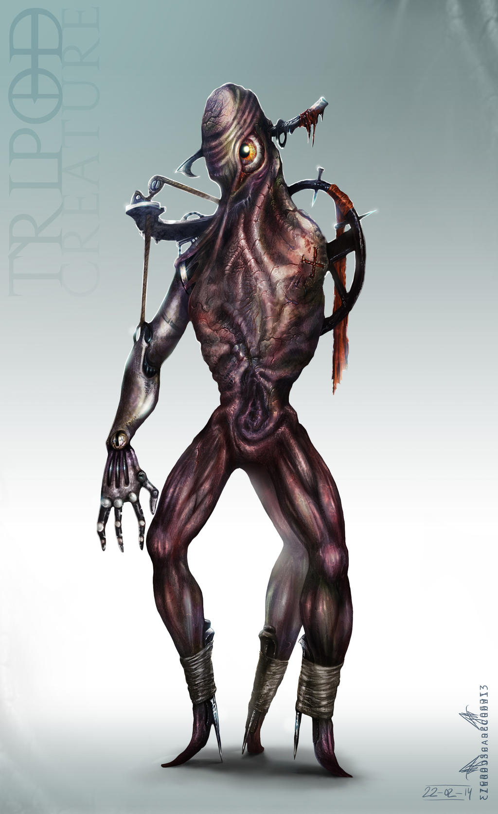 Tripod Creature by zero-scarecrow13