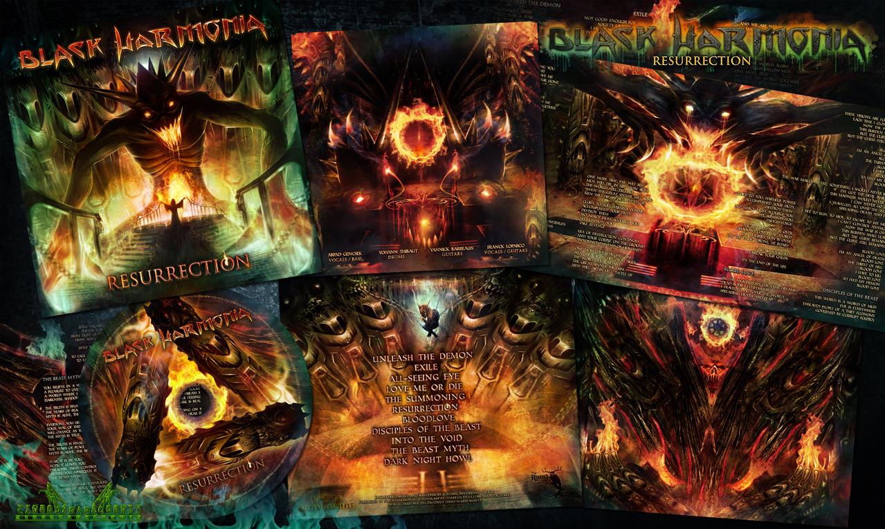Black Harmonia - Resurrection - album Design by zero-scarecrow13