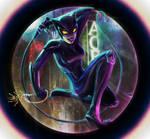 Selina Kyle - Catwoman - neon night