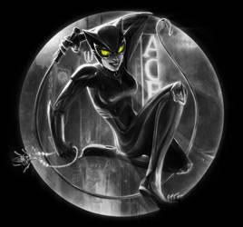 Selina Kyle - catwoman - [Black-White-Green]