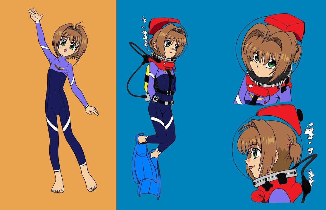 Sakura Diver Concept sheet - Color by The-Sakura-Samurai