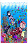 Hinata and Sakura's First Dive - Color Version