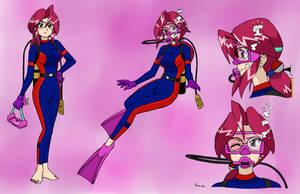 Lorelei Scuba Concept Sheet - Color Commission by The-Sakura-Samurai
