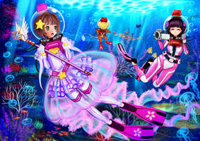 Clear Card Arc Cardcaptor Sakura LAMA Scuba by The-Sakura-Samurai