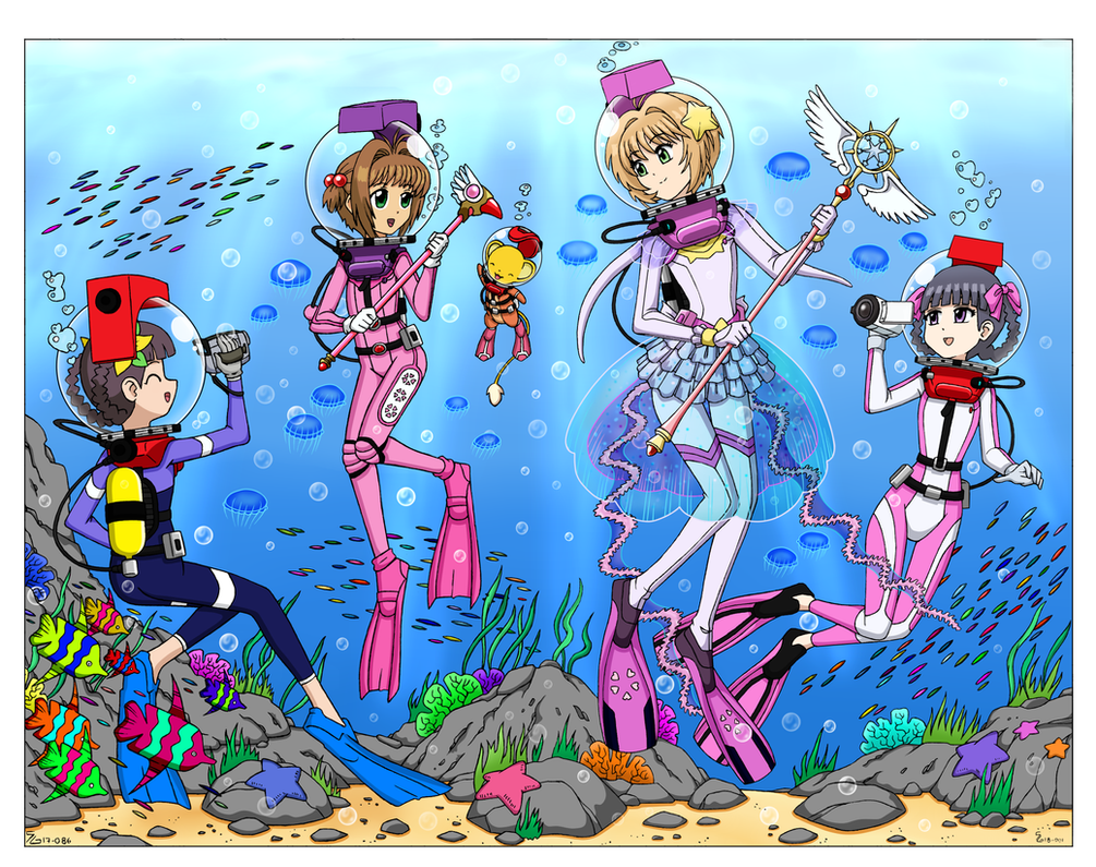 LAMA Scuba Cardcaptor Queens by The-Sakura-Samurai