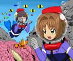 Sakura and Tomoyo LAMA Diving