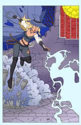 Aria's Lightning Attack - Color Commission by The-Sakura-Samurai