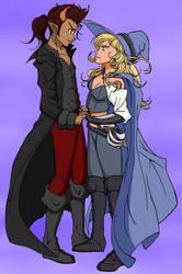 Aria and her Boyfriend - Color Commission by The-Sakura-Samurai