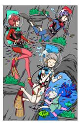 Xenoblade Girls LAMA Scuba - Color Commission by The-Sakura-Samurai