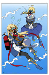Blazblue Girls Watery Friends - Color Commission by The-Sakura-Samurai