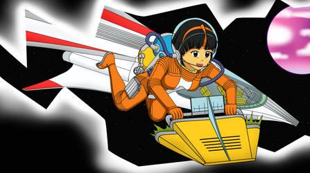 Yoko Tsuno: A Crack in Space - Color Commission by The-Sakura-Samurai