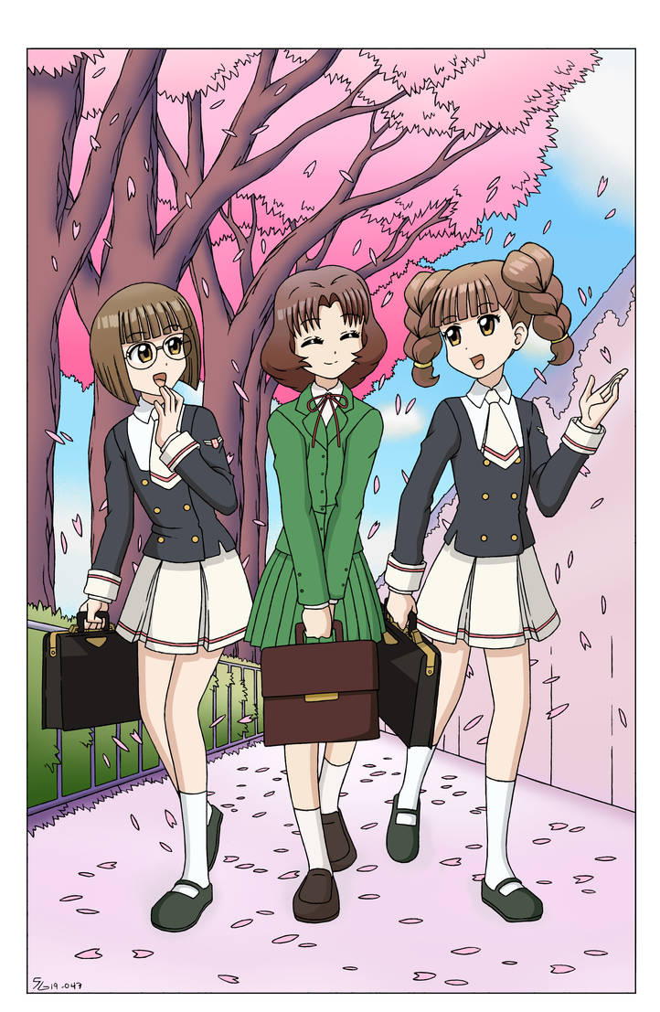 The Reunion of Best Friends - Color Version by The-Sakura-Samurai