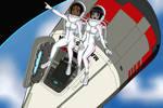 Stargazing in Space - Color Commission by The-Sakura-Samurai