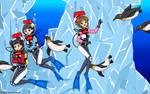 Sakura's Wonderful Ice Dive - Color Commission