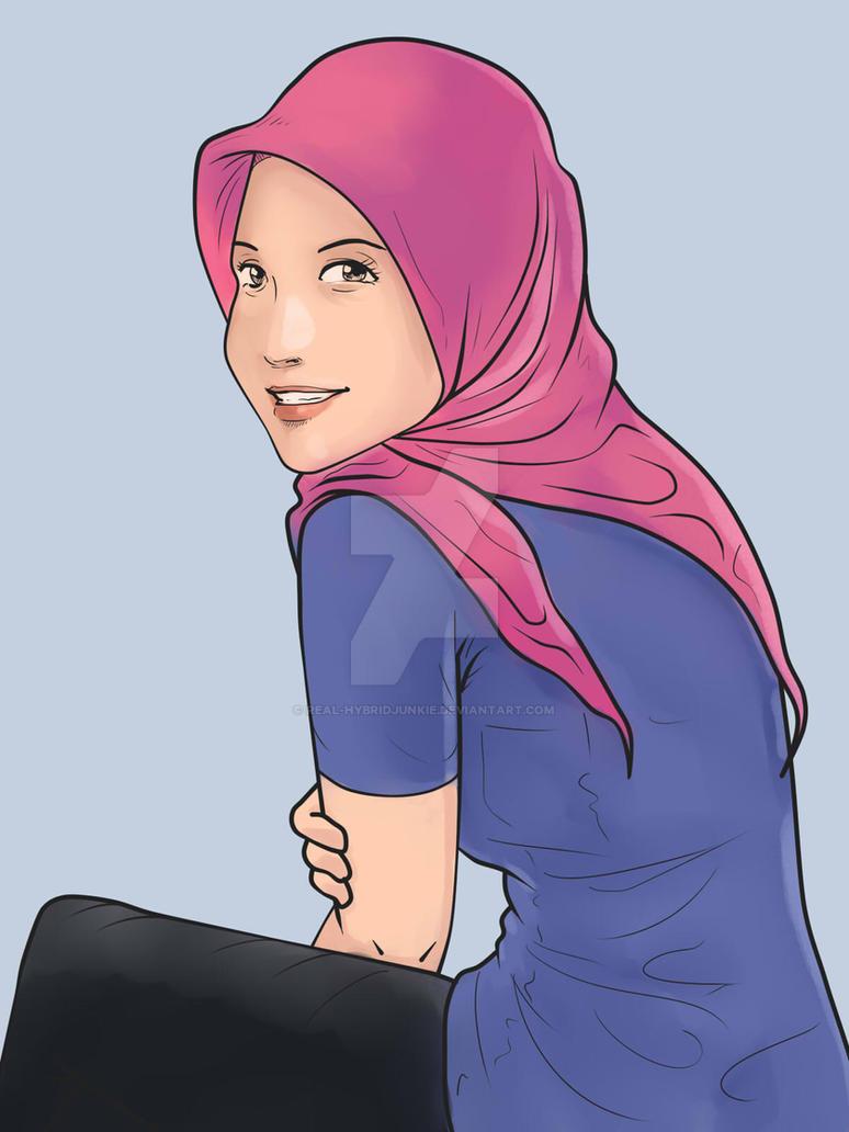 Daily Sketches - Gadis Bertudung Baju Ketat by mohdsyukri83