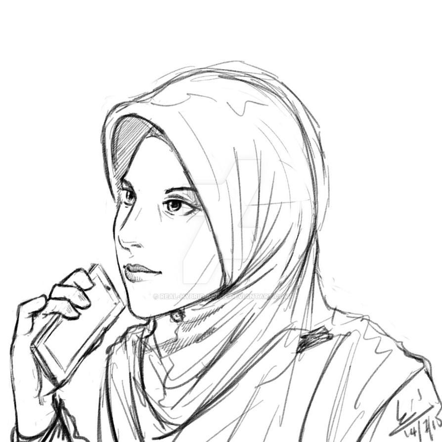 Daily Sketch - Gadis Tudung by mohdsyukri83