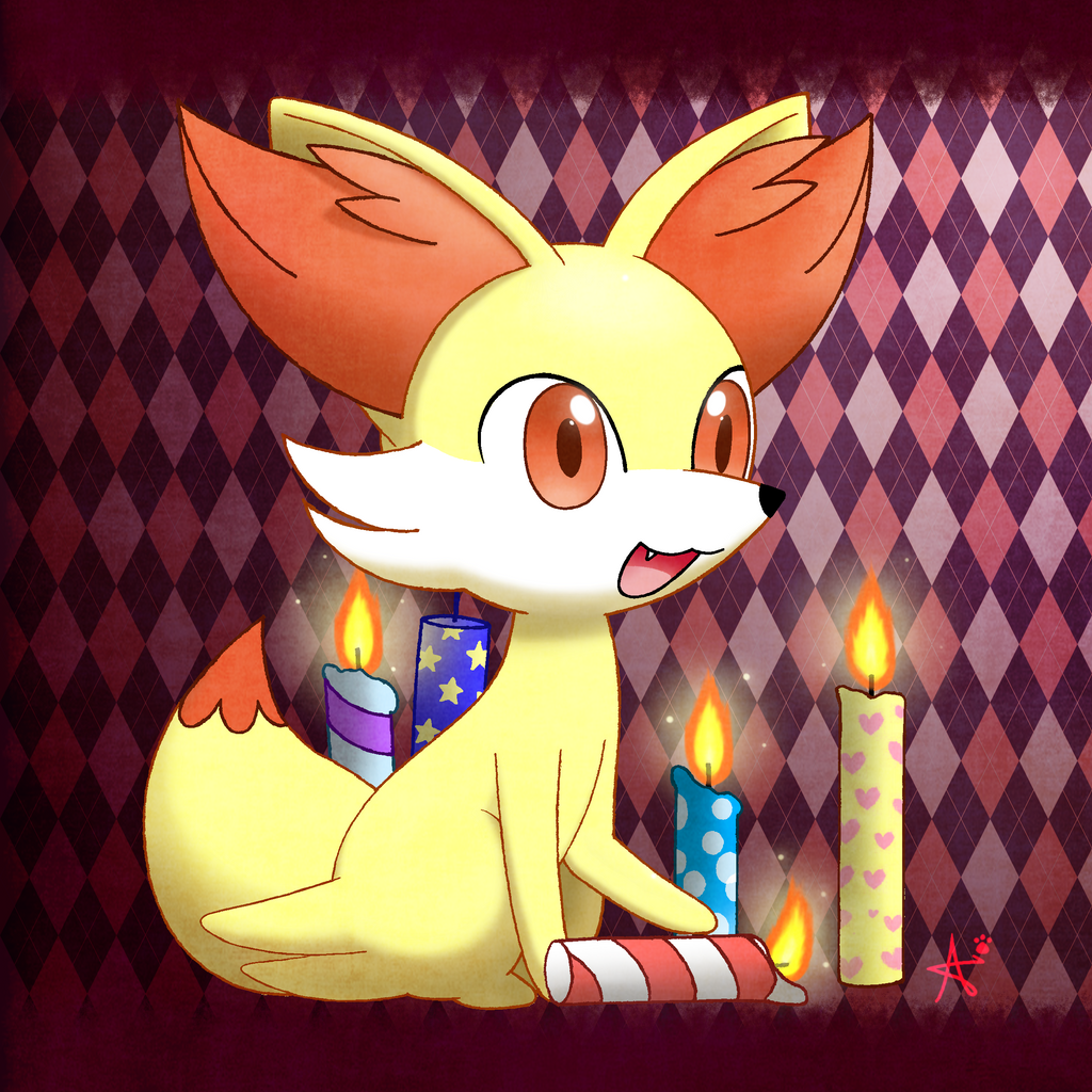 Fennekin's Candles by CaninePrince